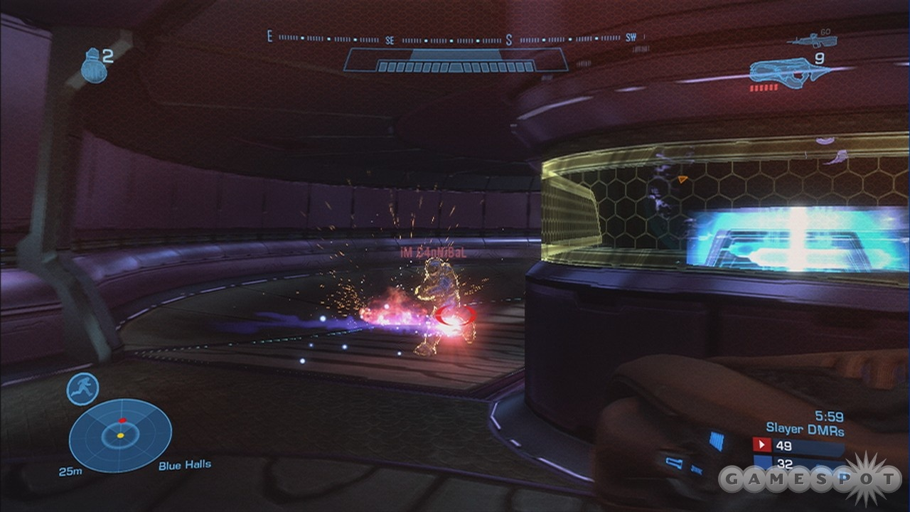 The new concussion rifle is a great way to destroy your enemy's shields.
