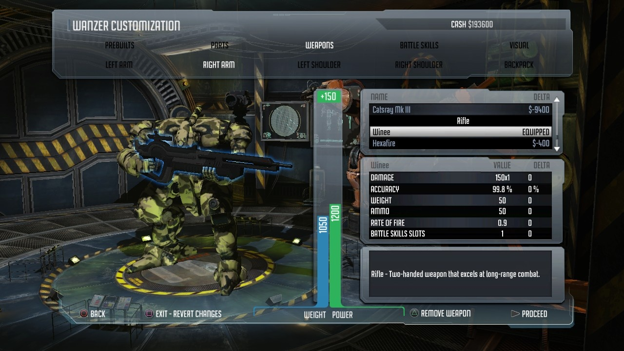 Customizing mechs adds a little depth to the action.