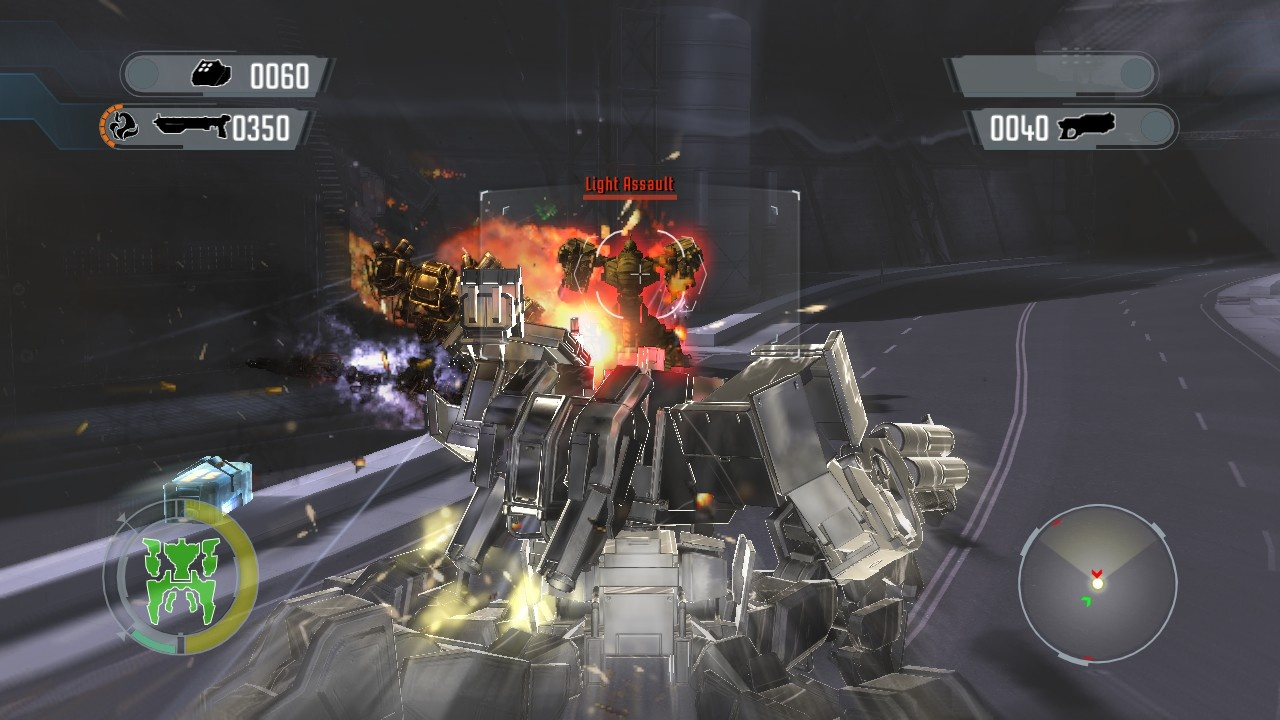 One thing's for sure: Front Mission Evolved isn't short of big-time explosions.