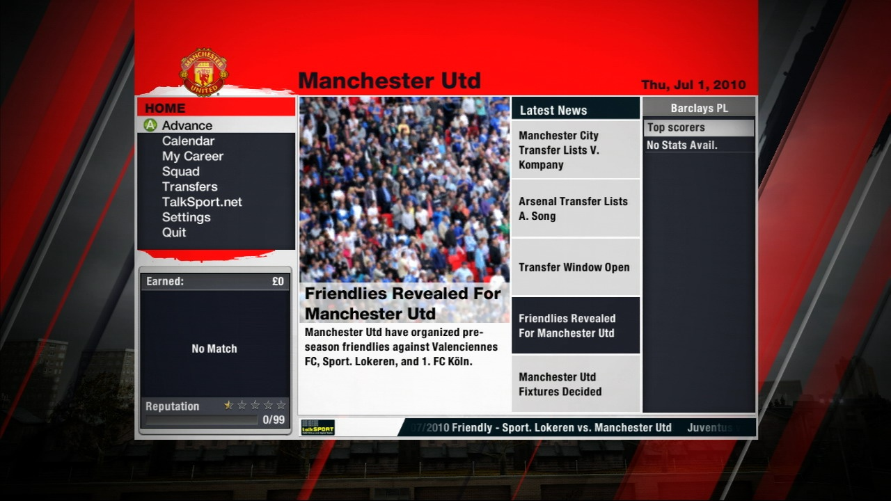 The new career mode combines the best of Be A Pro and Manager mode and combines them into one well presented game mode.