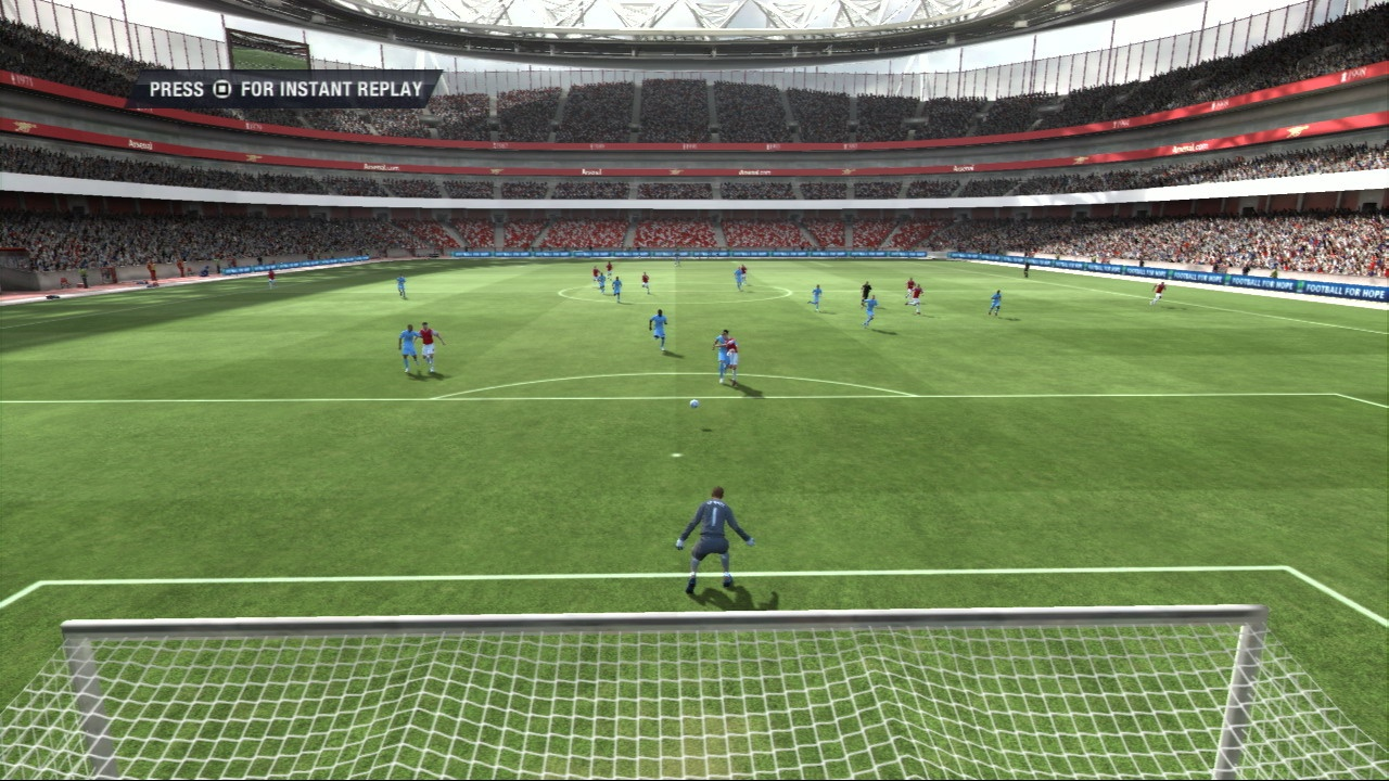 The option to play as a goalkeeper is welcome, and you can shout commands to the rest of your team when you're off the ball.