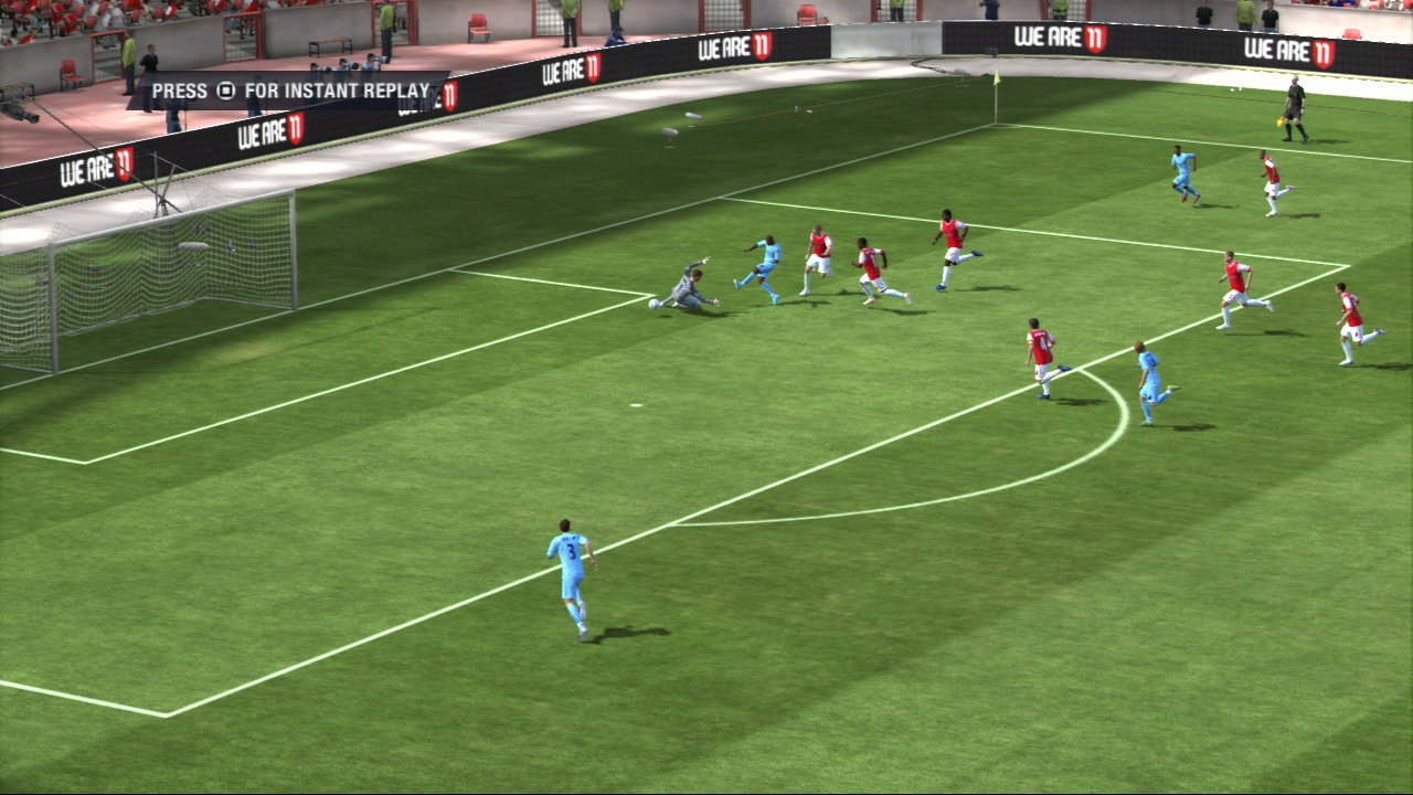 FIFA 11's gameplay is more realistic than ever, rewarding players who choose strategy over relentless attack.