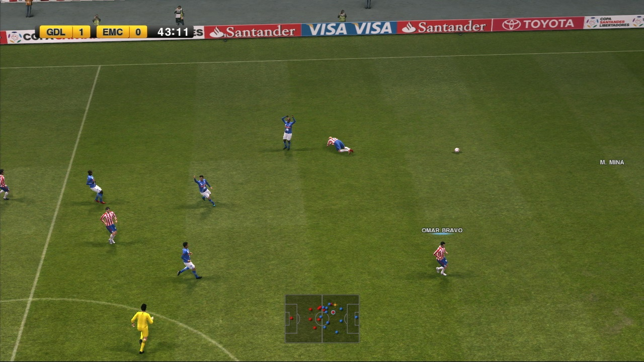 Pro Evo 2011's gameplay is characterised by more skill-based passing, which allows for deep and rewarding gameplay.