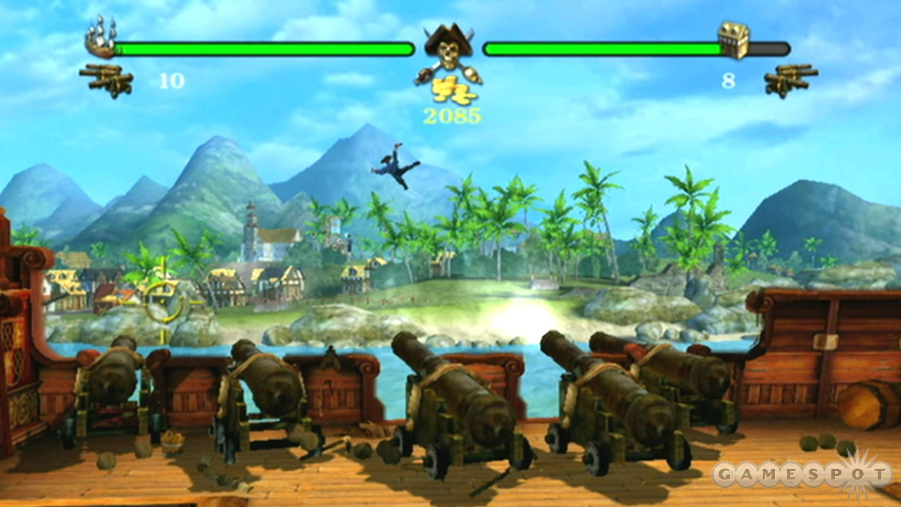 The bombardment minigame is one of two introduced in the Wii version.