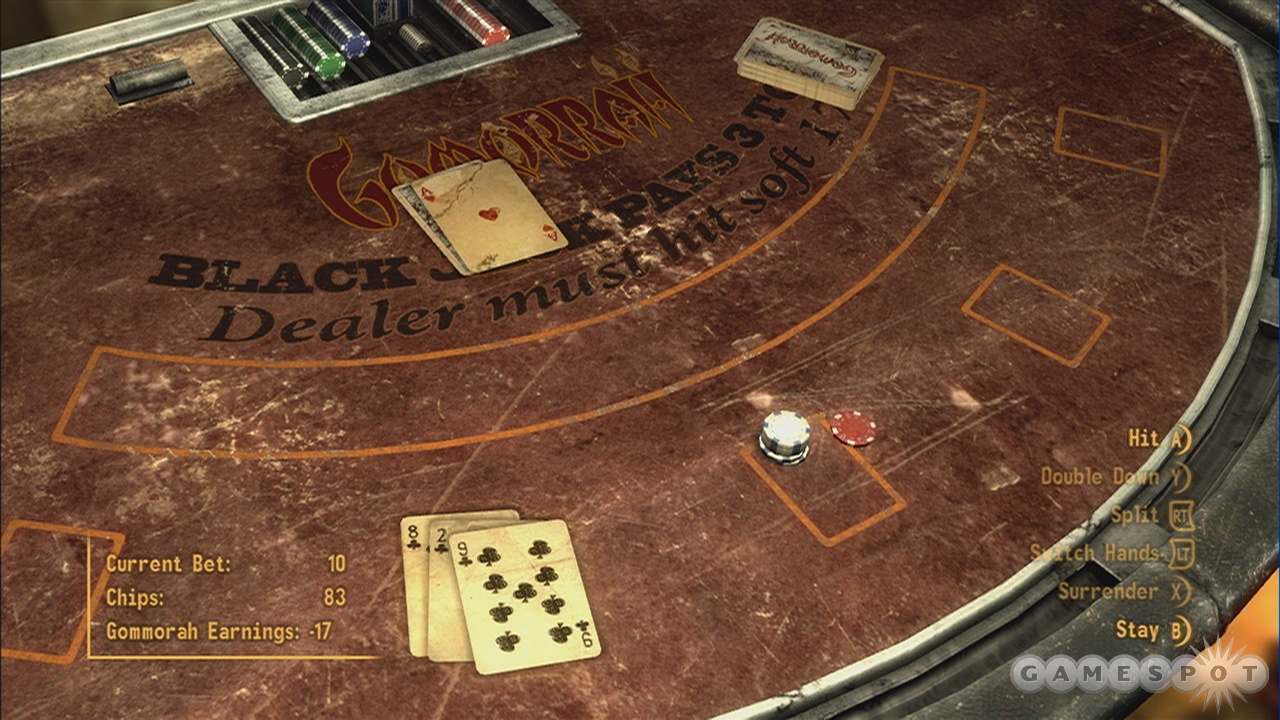 Blackjack is a good way to earn some caps while resting your weary bones.