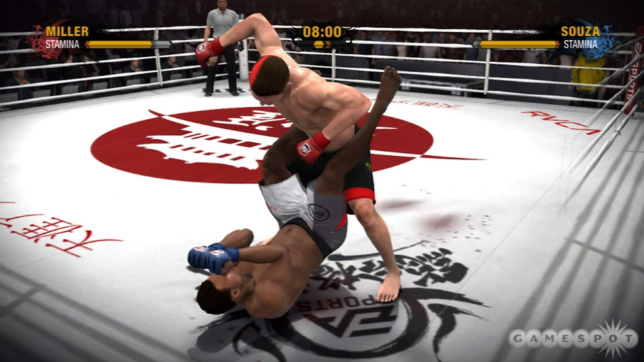 Stack an AI opponent and he'll often protect his face while you destroy his torso for minutes at a time.