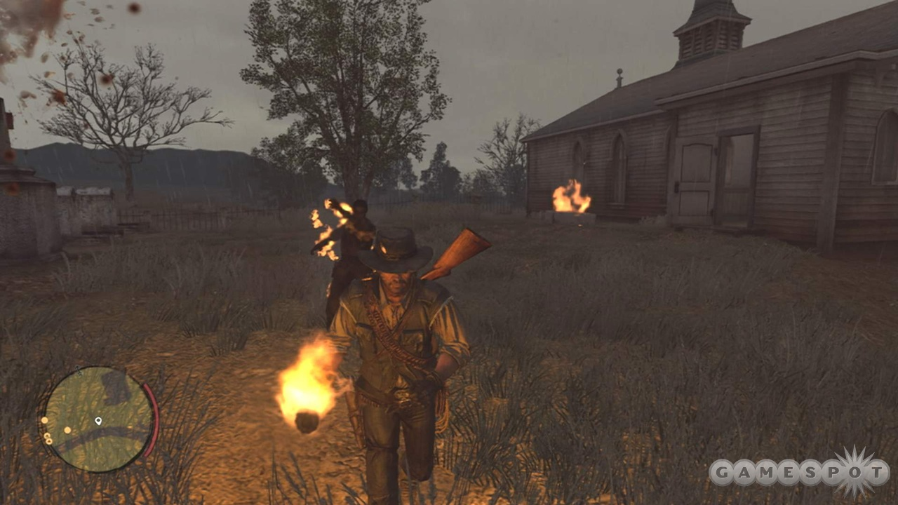 The torch doesn't kill undead instantly, but that only makes it more satisfying.
