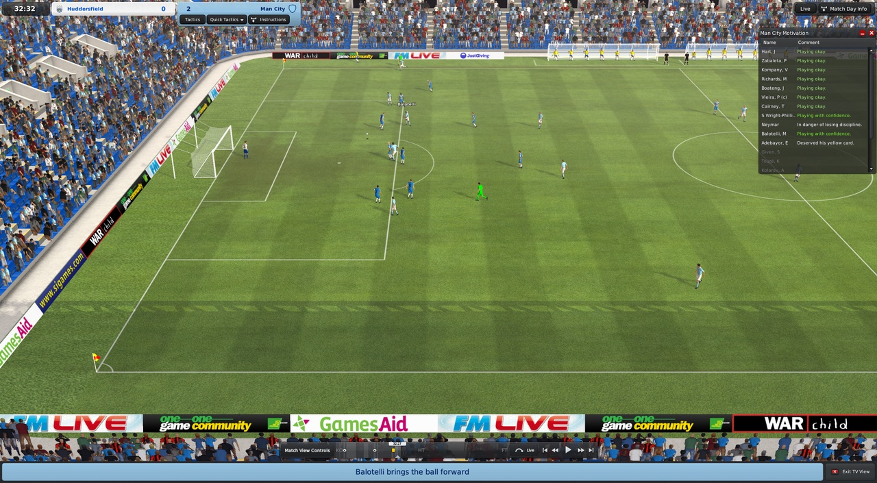 The 3D match engine looks better than ever.