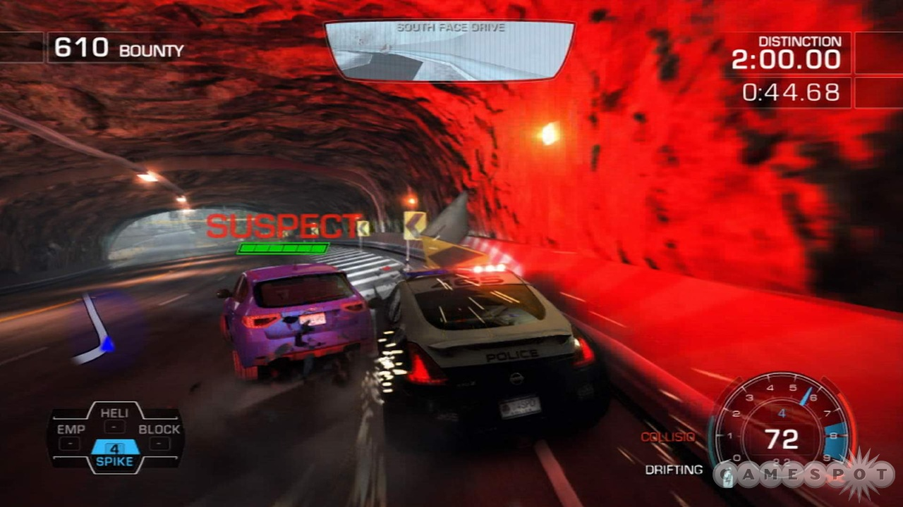 Hot Pursuit's cars are resilient enough to shunts that they get their own health bars.