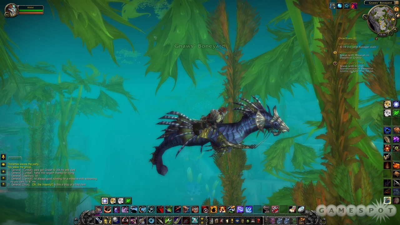 The best way to explore Vashj'ir is on your own seahorse mount.