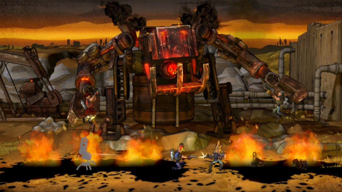 Boss battles look good and are a challenge, but they repeat throughout the campaign.