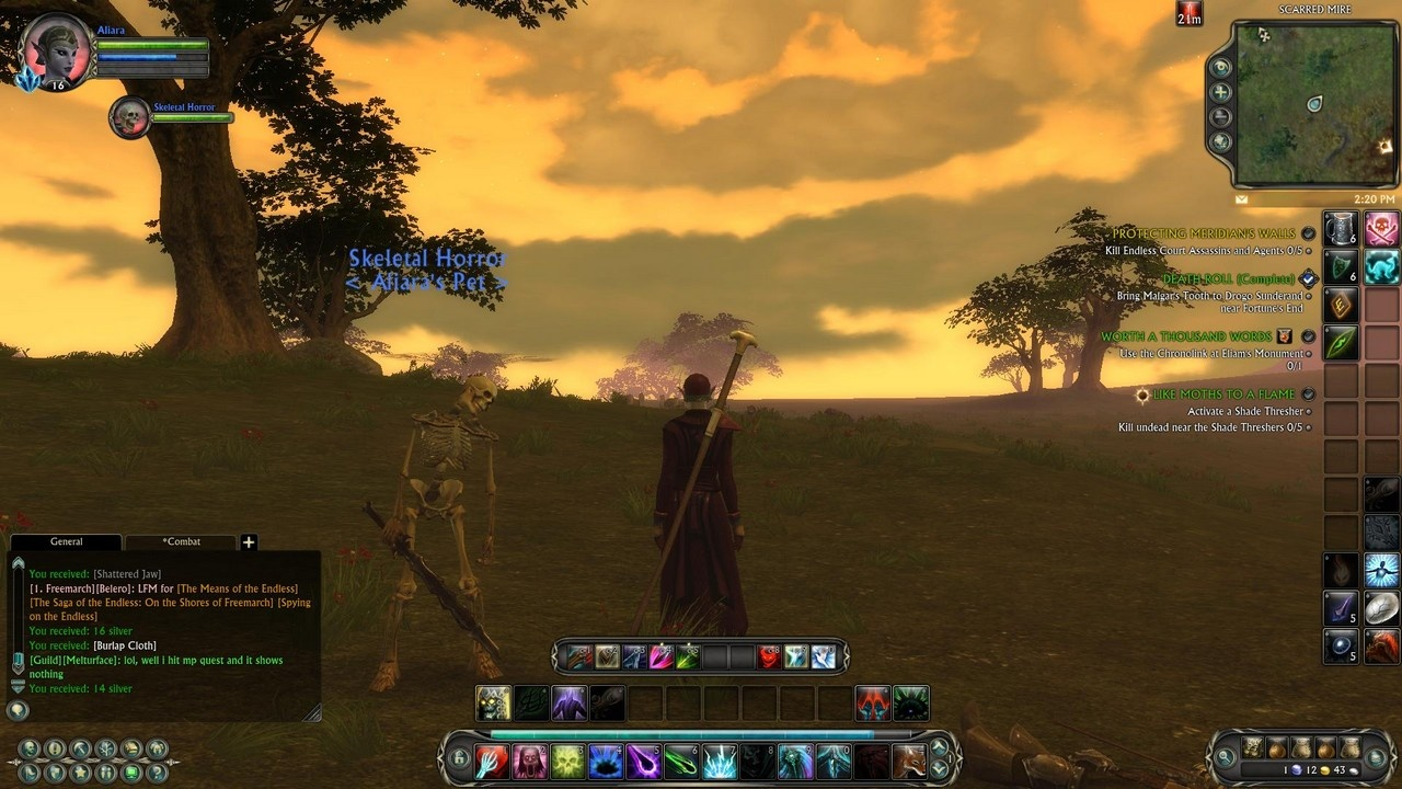 It's nice to have somone to enjoy the sunset with, even if that someone is a skeletal horror.