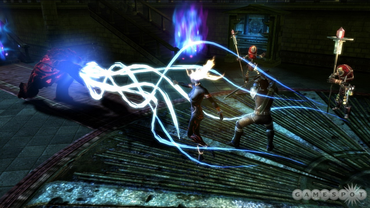 Anjali's aura of immolation ability is a great way to hurt enemies and heal allies.