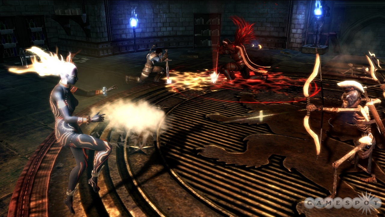 Teamwork is key for bringing down the bigger bosses in Dungeon Siege III.