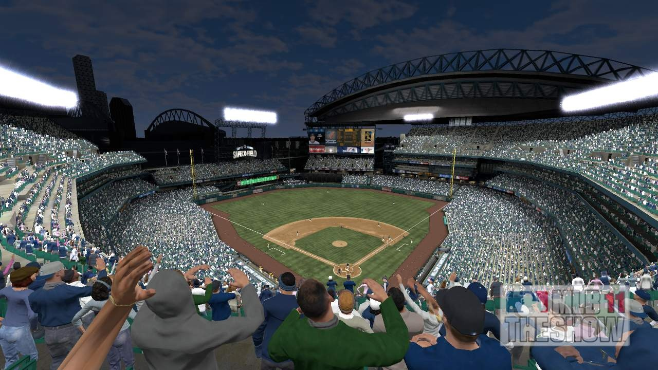 Great use of stadium architecture, along with light and shadow, really brings big-league ballparks to life.