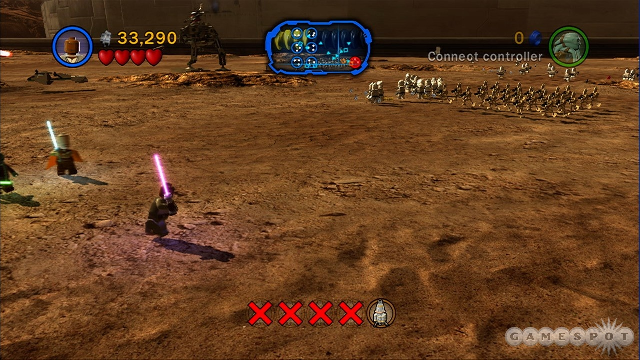 One Jedi versus an army of robots. Hardly seems fair.