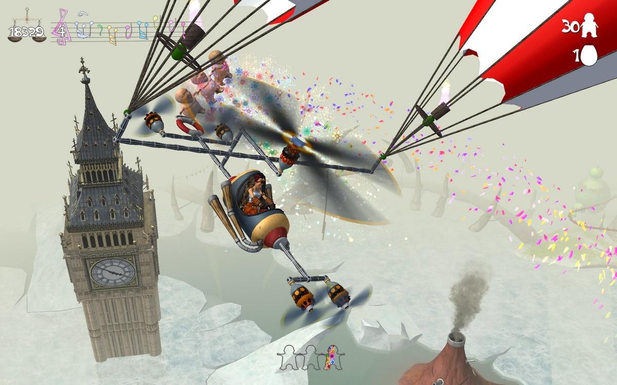 Buzz Big Ben in your bizarre balloon machine.