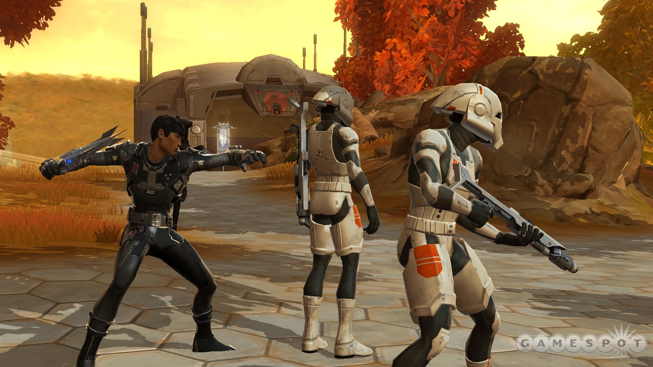 Soldiers of the Republic, rival bounty hunters…it's all the same. More trophies for the case, more credits for the bank.