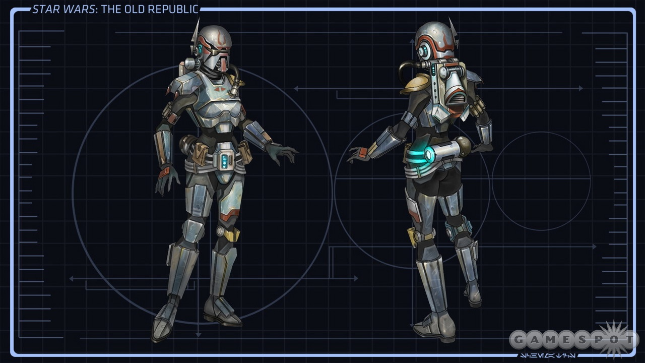 How would this style of armor look with a wrist-mounted carbonite freeze ray?