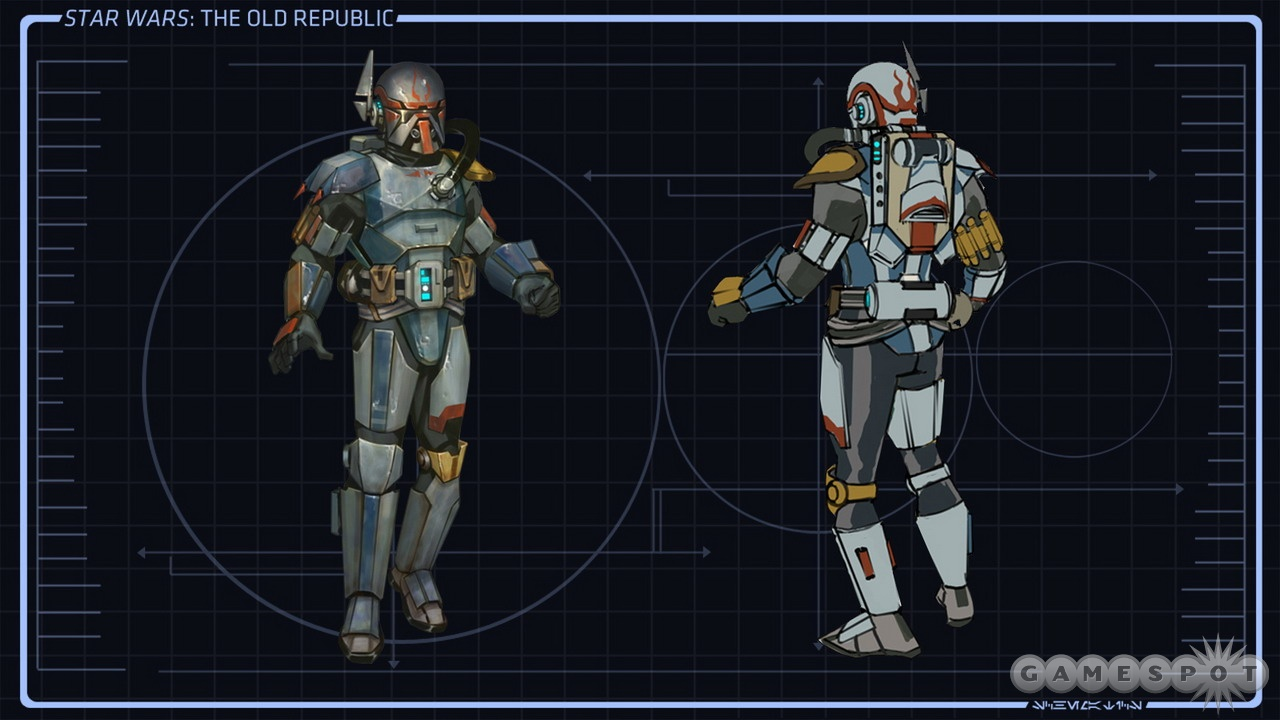 This set of bounty-hunter-powered armor has a familiar look to it.