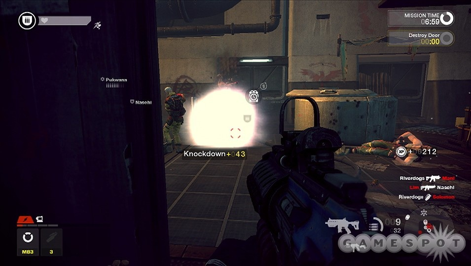 Grenades are a great way to knock enemies down; just be sure to finish 'em off.