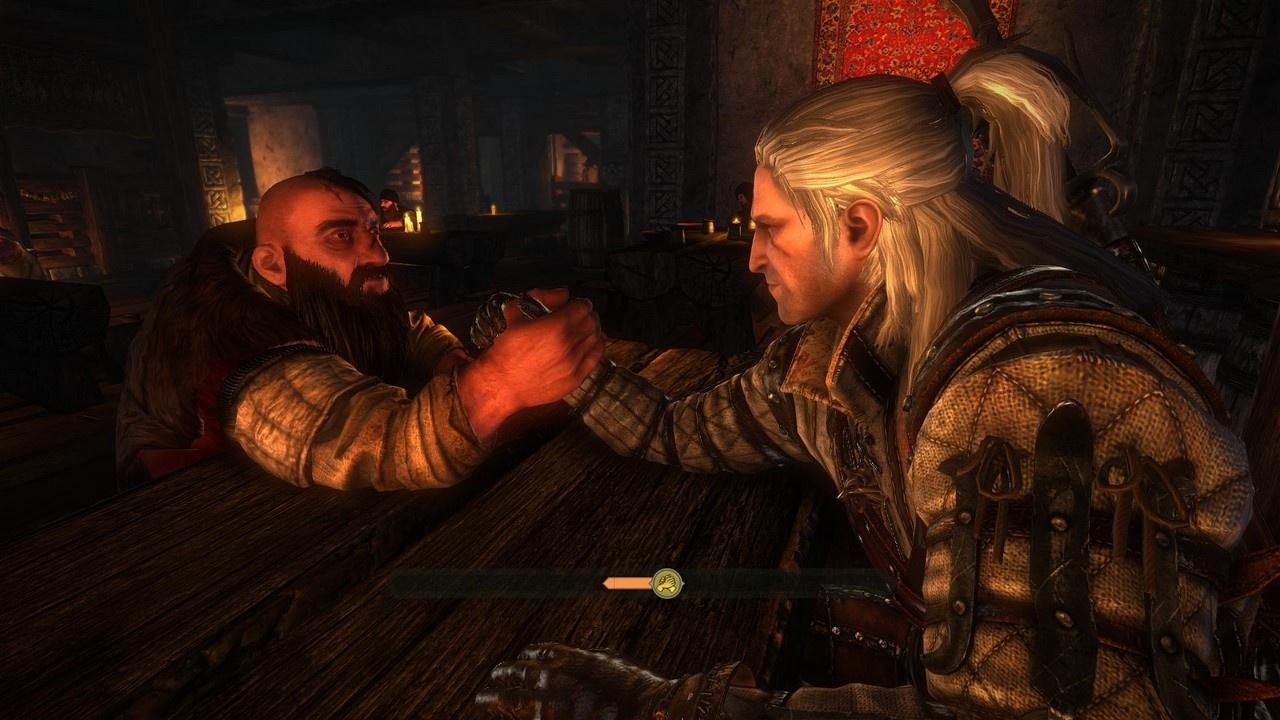Shorty's no match for Geralt's great guns.