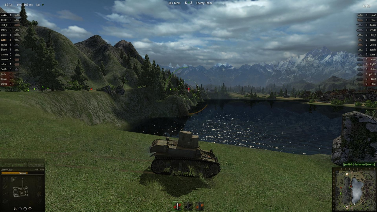 Pause to enjoy the view for too long and enemy artillery might pick you off with a single shot.