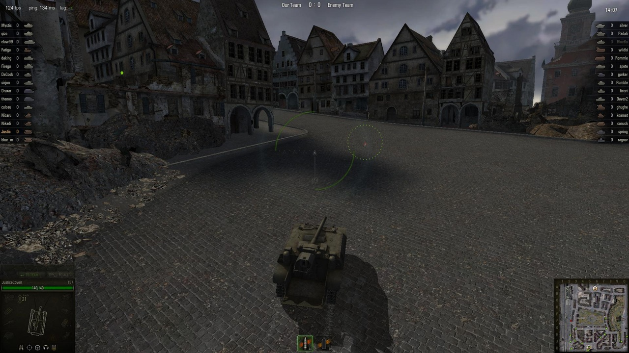 When playing artillery on a city map like Himmelsdorf it's a good idea to get to high ground.
