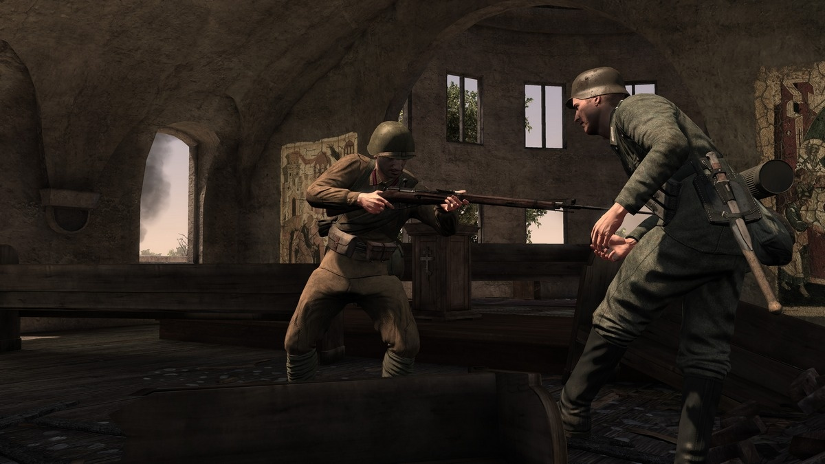 World War II didn't have any recharging energy shields, and neither does Red Orchestra 2.
