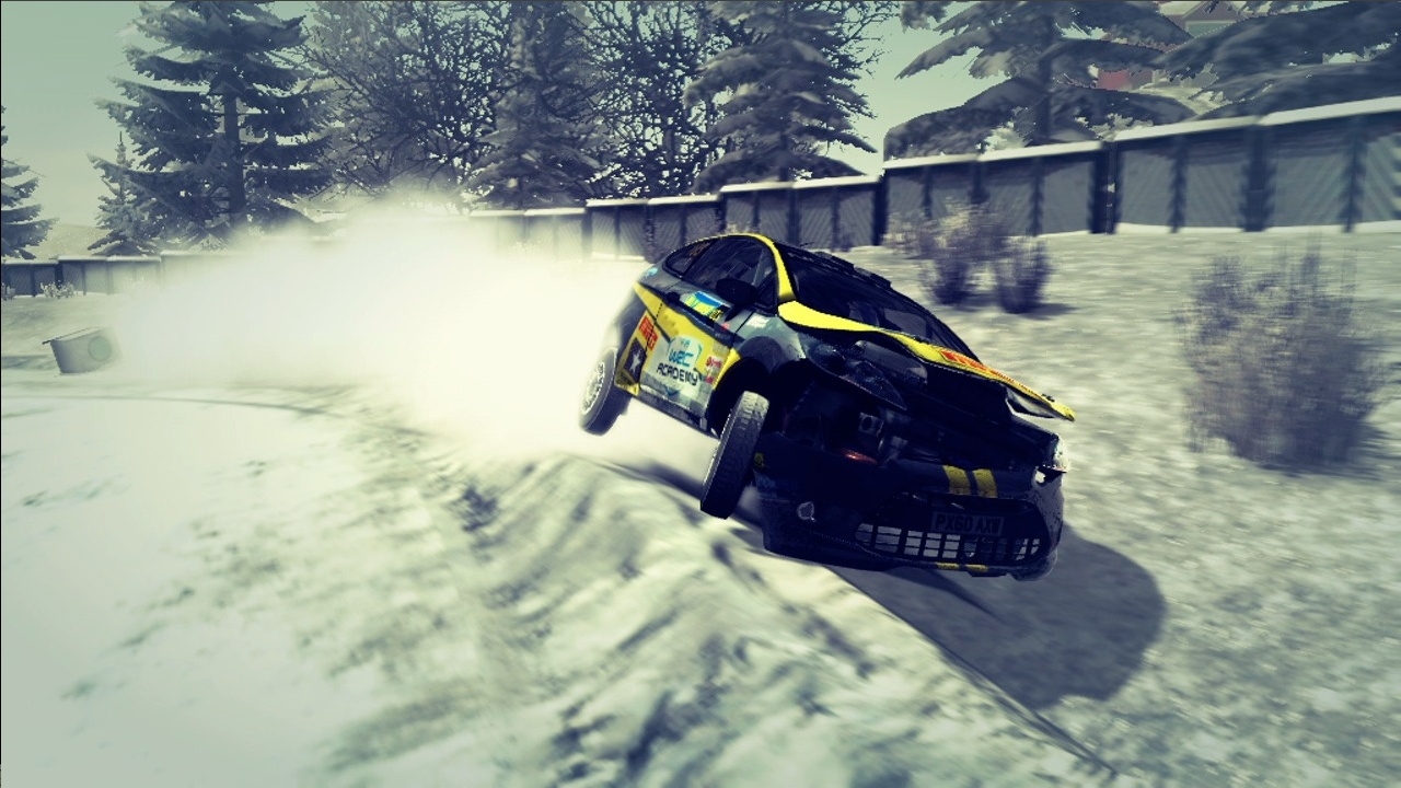 Cars get dirty, sometimes completely covered in snow by the end of a race.