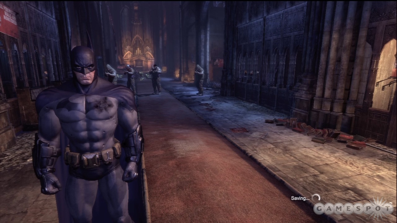Before beating up bad guys, Batman like to take a moment to do some brooding.
