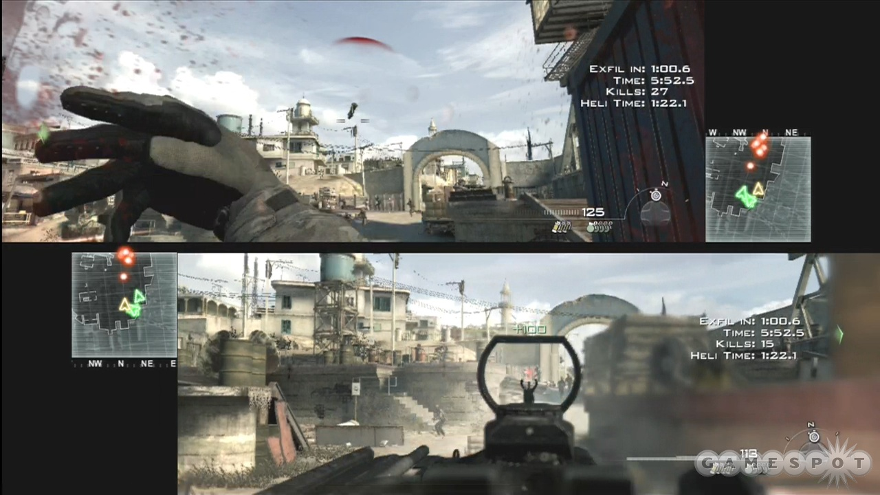 Spec Ops supports two players locally, while competitive multiplayer accommodates up to four.