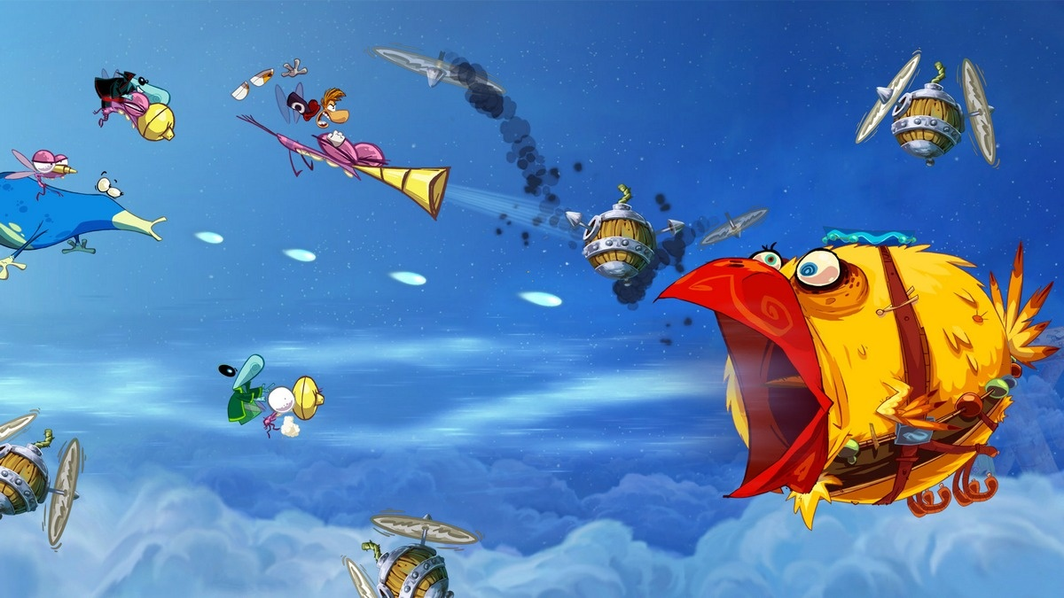 Heral's latest compositions for Rayman Origins matches the crazy aesthetics of the 2D platformer.