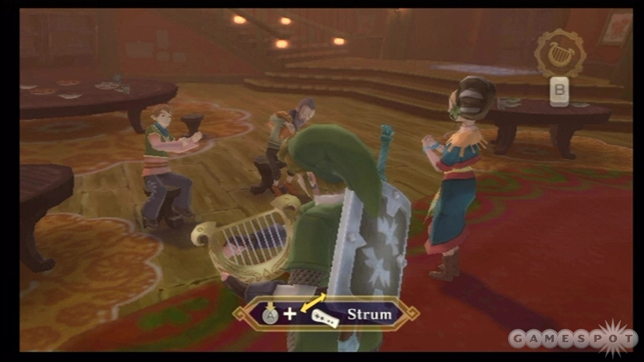 Harp playing is one of Skyward Sword's weaker minigames.