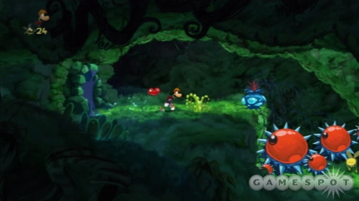 The Wii version of Rayman Origins is a bit grainier than its HD counterparts, but the terrific art design still dazzles.