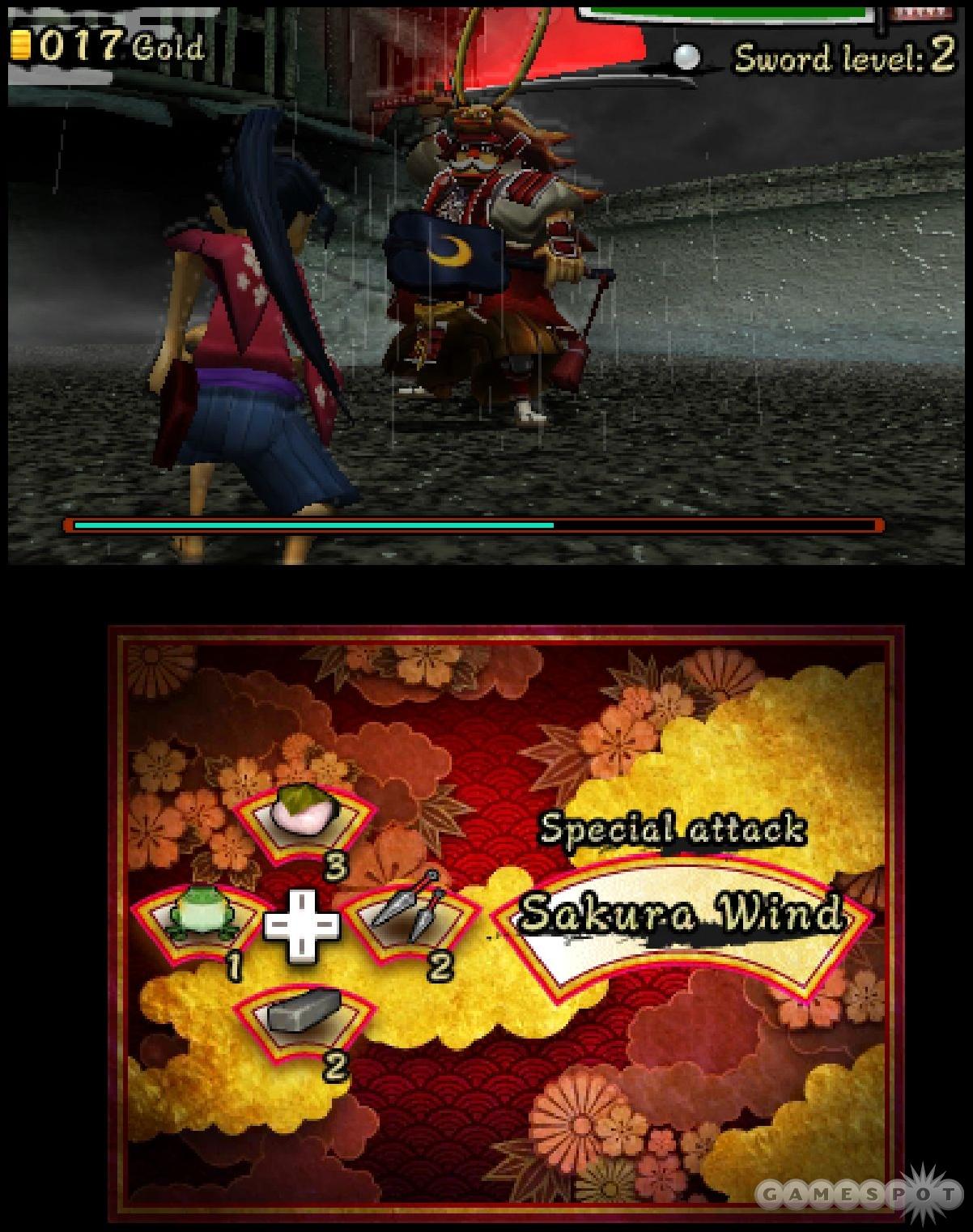 Boss fights test your sword skills.