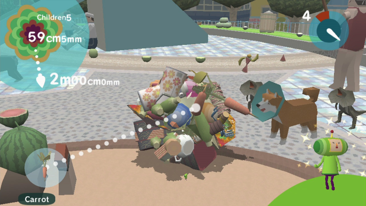 Even a katamari can benefit from a carrot or two.