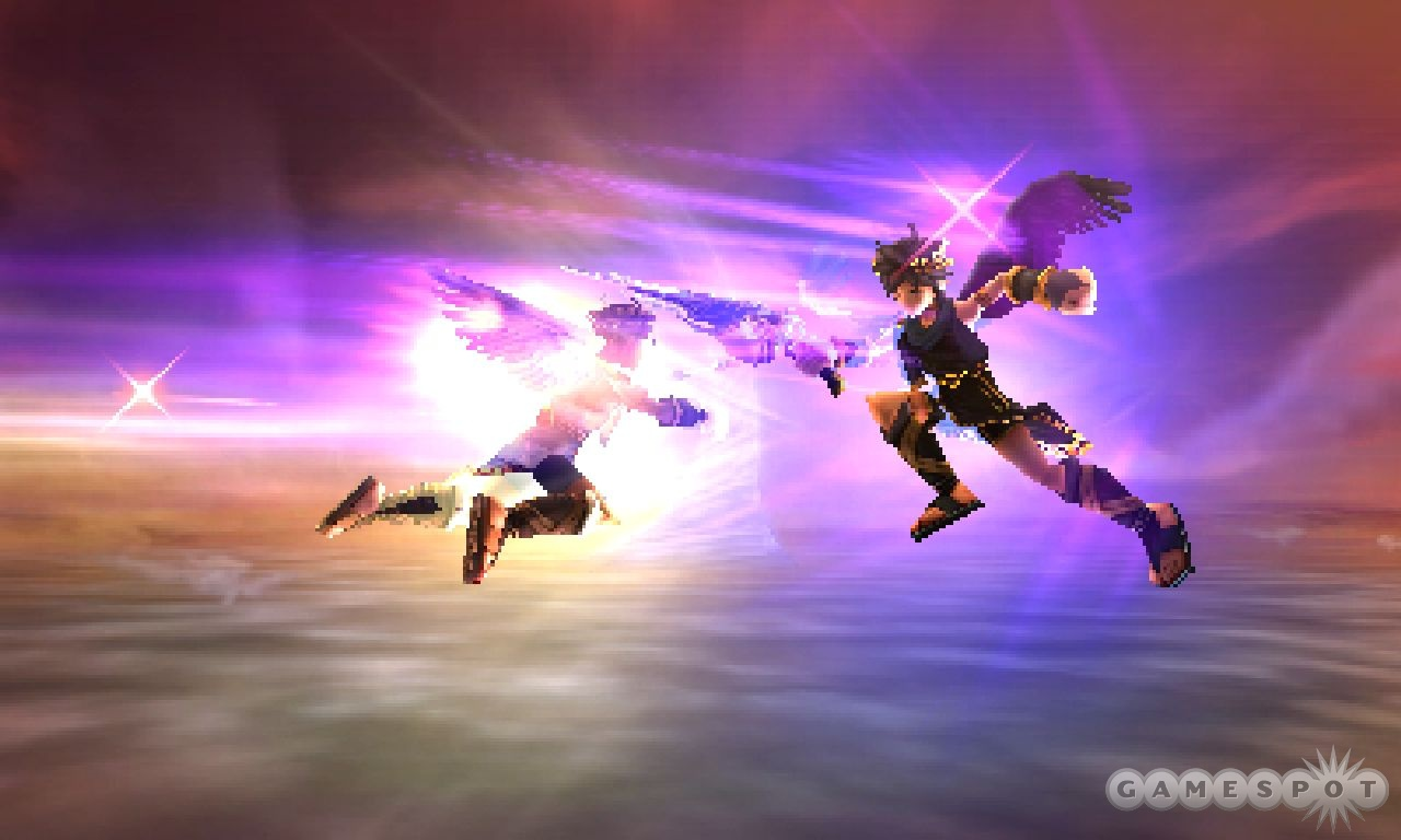 For someone who can't fly by himself, Pit is pretty nifty when he takes to the air.