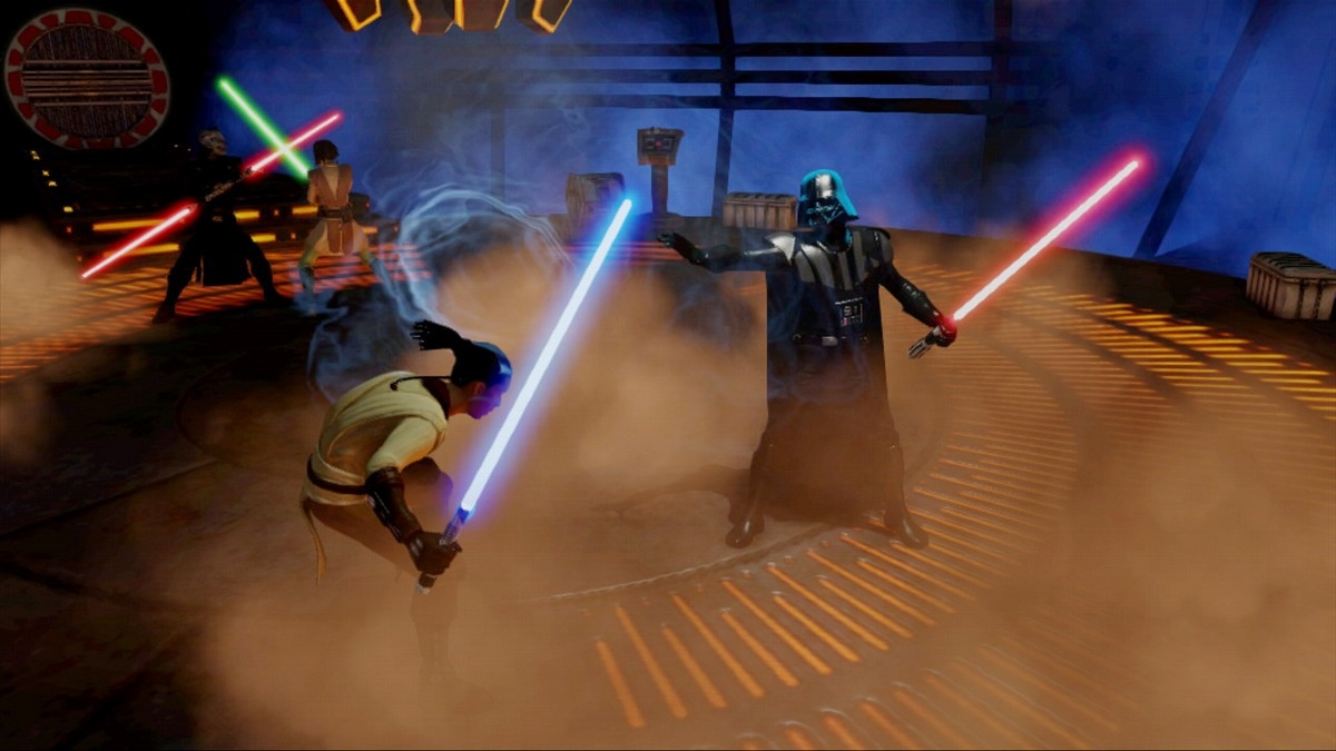 Yes, Darth Vader will be a lightsaber equivalent of a punching bag in this minigame.