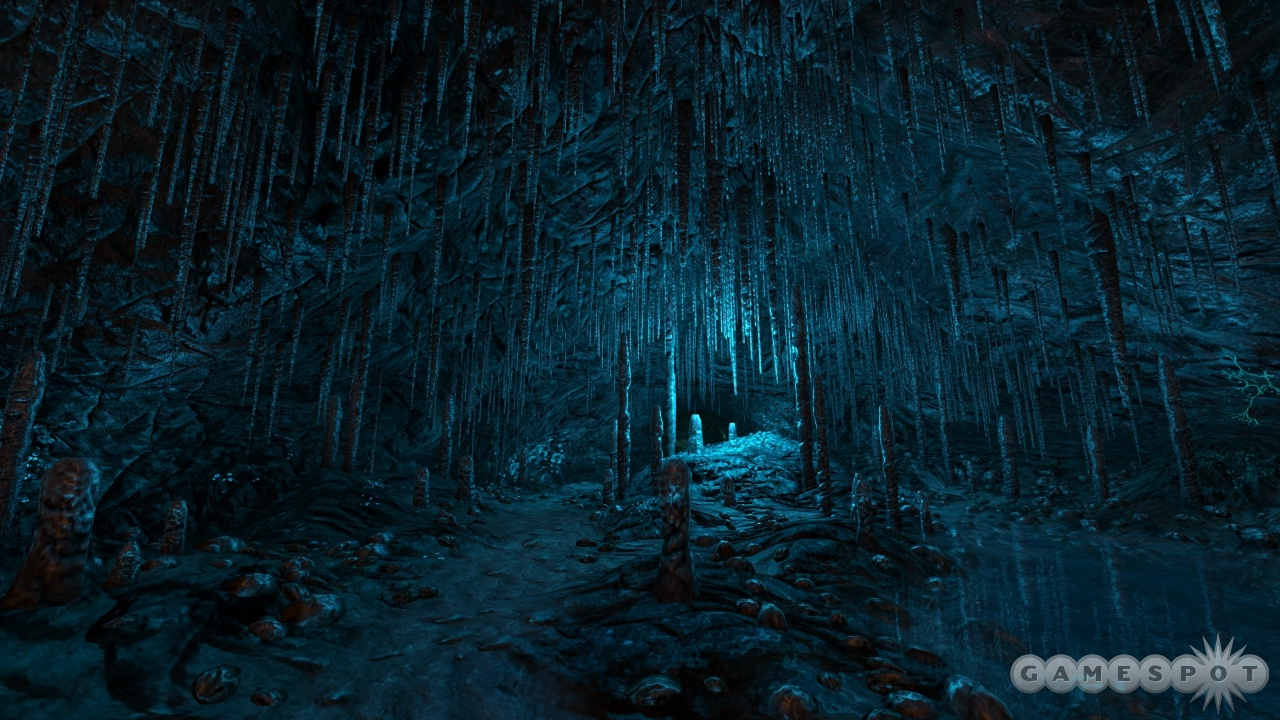 Dear Esther's realistic environments are given otherworldly touches.
