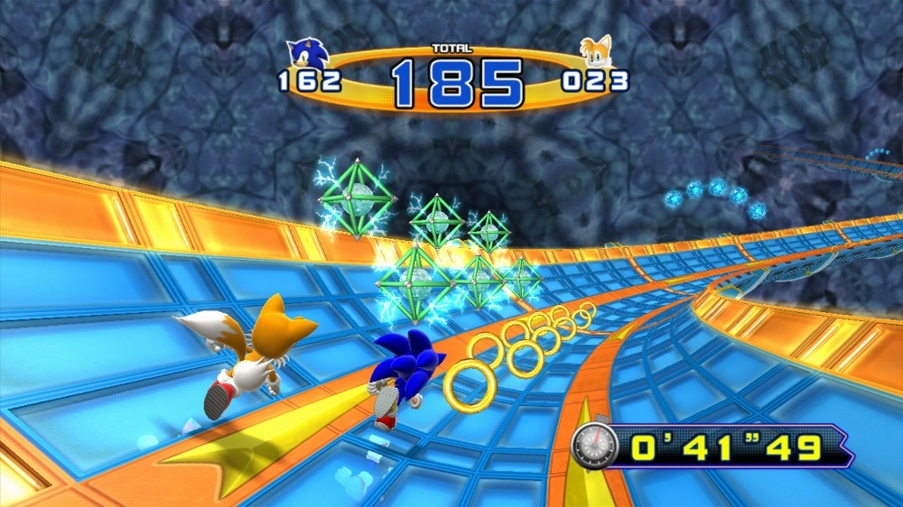 These bonus stages are a nod to the similar stages in Sonic the Hedgehog 2.