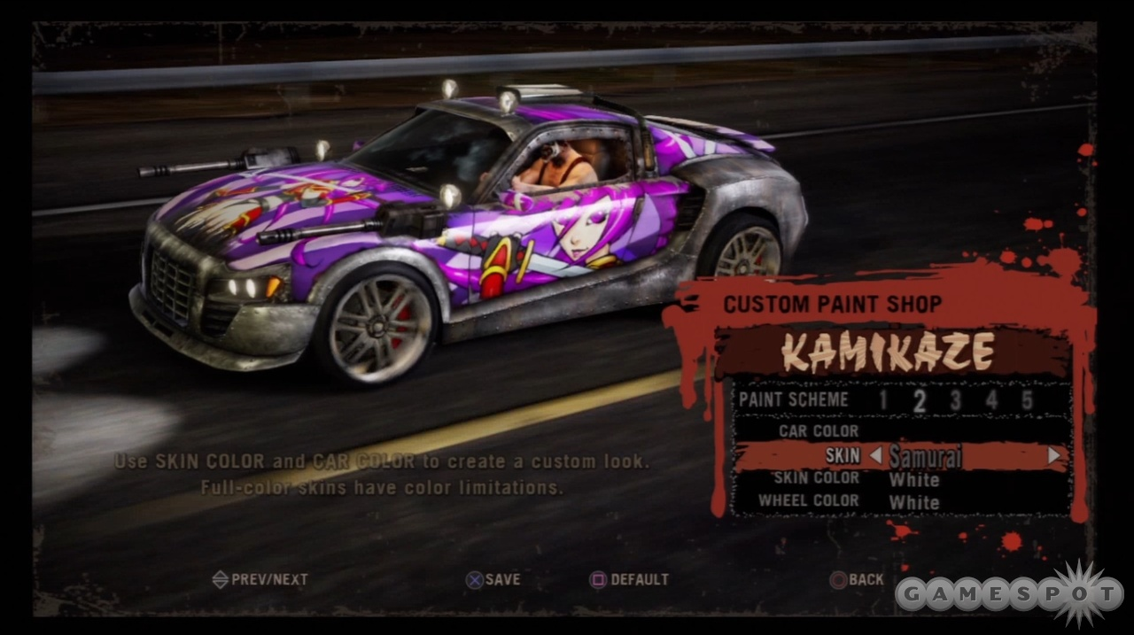 You can put a personal touch on your favorite vehicles in the paint shop.