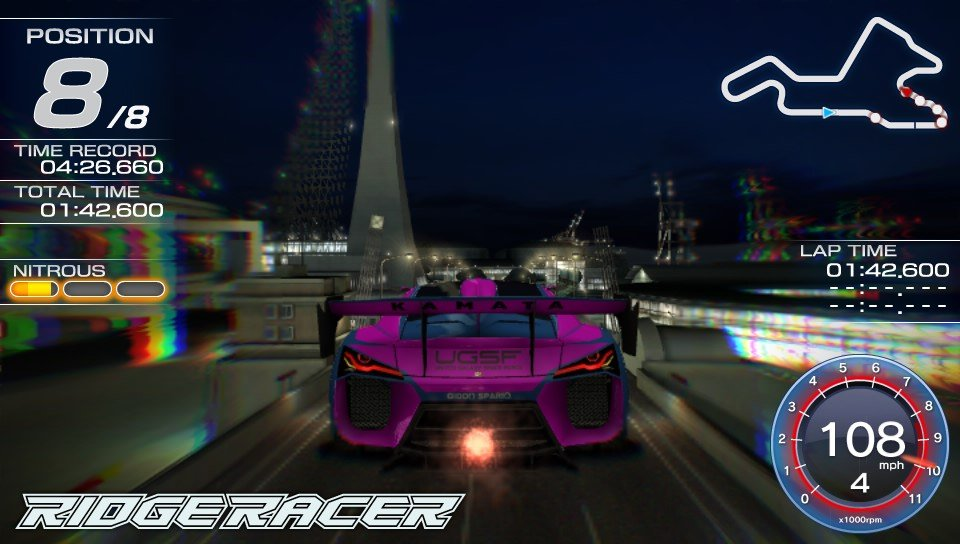Even a hefty dose of motion blur can't disguise Ridge Racer's mundane visuals.