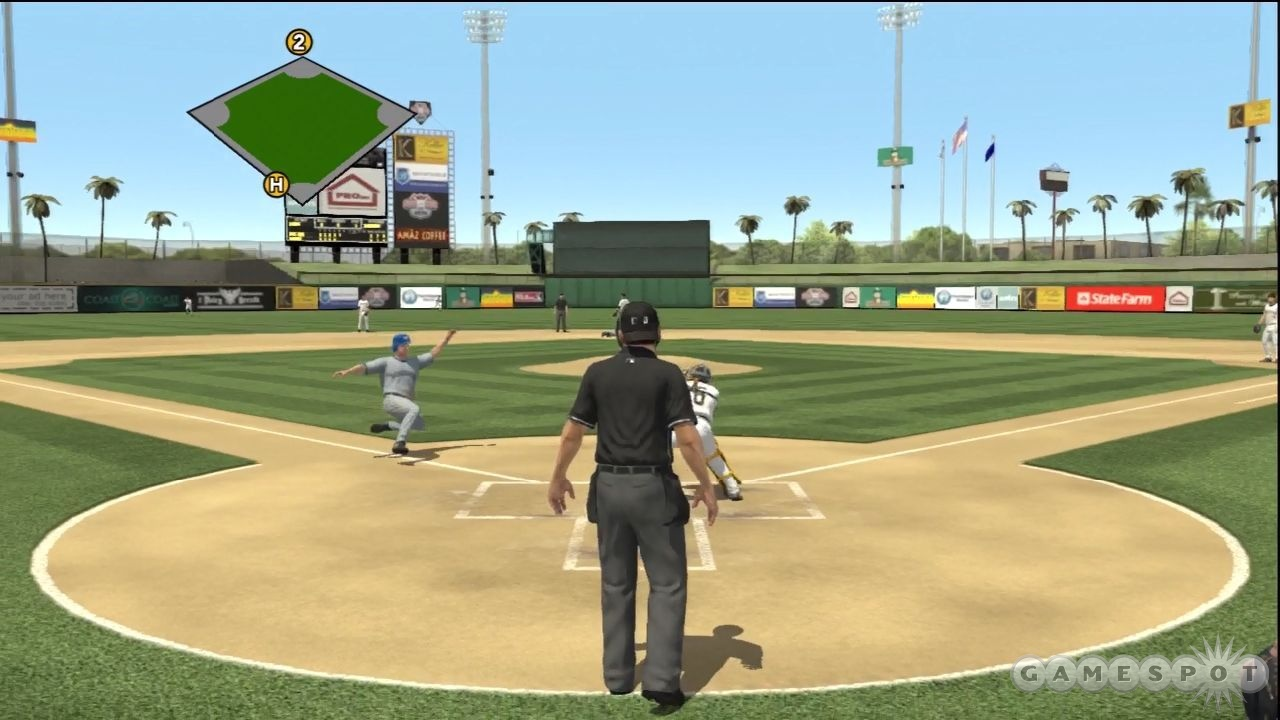 Thanks Ump for blocking the view of home plate!