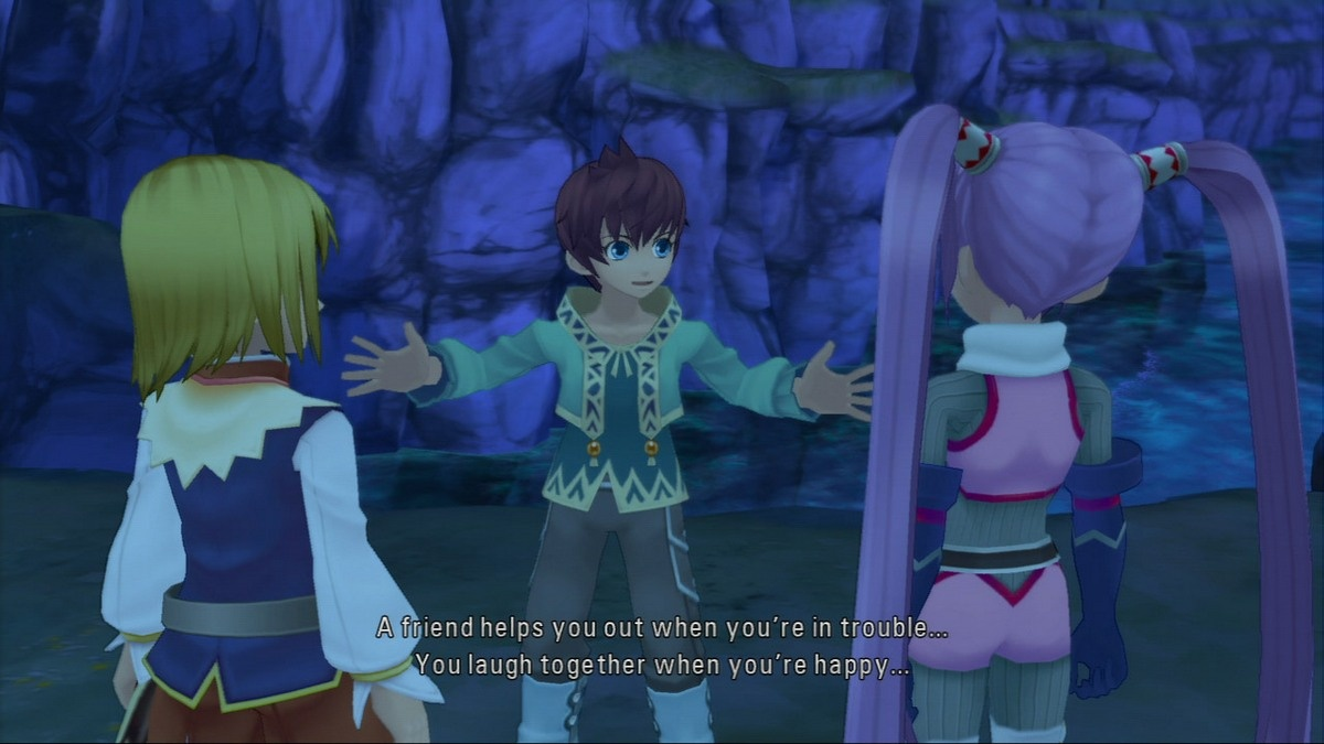 The heroes of Tales of Graces f learn valuable lessons about the meaning of friendship…