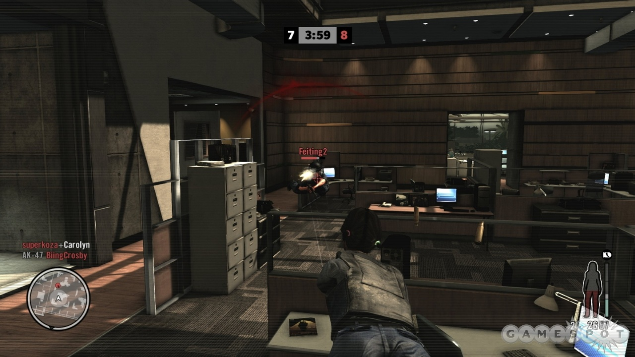 Shootdodging gives multiplayer a slightly goofy, distinctly Max Payne flavor.
