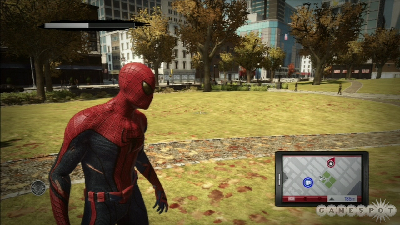 Even Spider-Man appreciates a nice stroll in the park from time to time.
