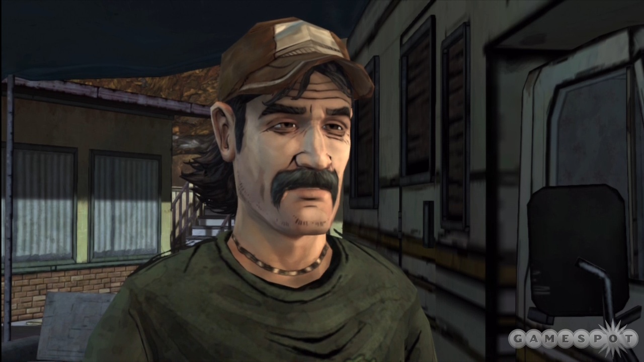 Kenny isn't about to let a little zombie apocalypse interfere with his strict mustache maintenance regimen.