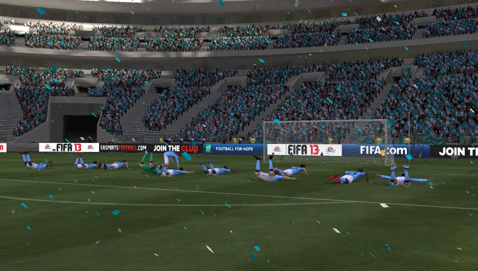 Outlandish goal celebrations are par for the course in FIFA 13.