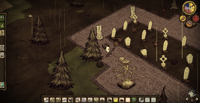 At least Don't Starve doesn't force you to dig your own grave.